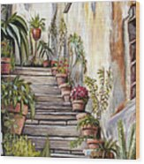 Tuscan Steps Wood Print