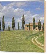 Tuscany - Pienza Wood Print