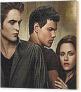 Twilight  Kristen Stewart And Robert Pattinson Artwork 2 Wood Print