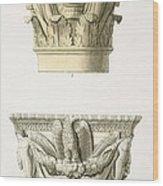 Two Column Capitals Wood Print