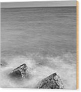 Two Stones Mono Wood Print