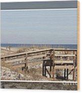 Tybee Island Boardwalks Wood Print