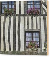 Typical House  Half-timbered In Normandy. France. Europe Wood Print