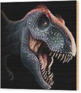 Tyrannosaurus Rex Head Wood Print