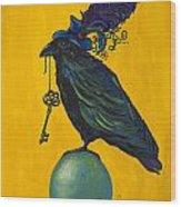 Uncommon Raven Love 2 Wood Print