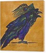 Uncommon Raven Love 3 Wood Print