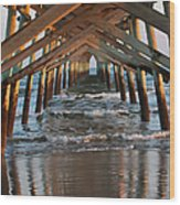 Under The Pier II Wood Print