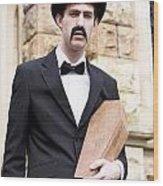 Undertaker Undertaking A Coffin Wood Print