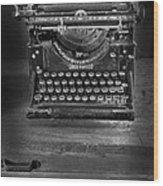 Underwood Typewriter Wood Print