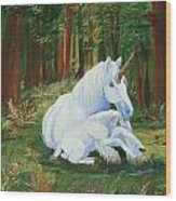 Unicorns Lap Wood Print