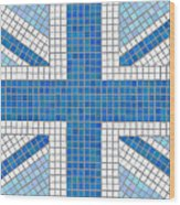 Union Jack Blue Wood Print by Jane Rix