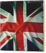 Union Jack Wood Print by Les Cunliffe