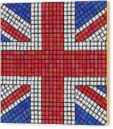 Union Jack Mosaic Wood Print by Jane Rix
