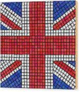 Union Jack Mosaic Wood Print