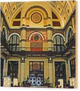 Union Station Lobby Larger Size Wood Print