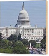 United States Capitol Building Wood Print