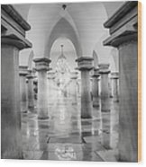 United States Capitol Crypt Wood Print