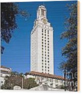 University Of Texas At Austin Wood Print