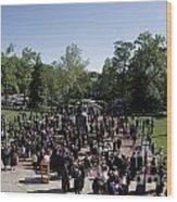 University Of Virginia Graduation Wood Print