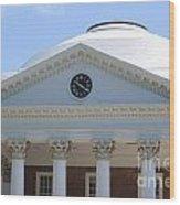 University Of Virginia Rotunda Wood Print