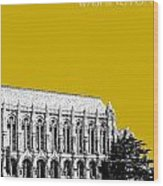 University Of Washington - Suzzallo Library - Gold Wood Print