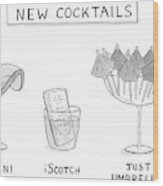 New Cocktails Wood Print