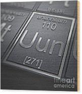 Ununnilium Chemical Element Wood Print