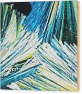 Urea Or Carbamide Crystals In Polarized Light Wood Print