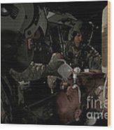 U.s. Army Medics Simulating Ventilation Wood Print