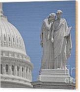 Us Capitol Peace Monument Wood Print