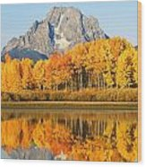 Usa, Grand Teton National Park Wyoming Wood Print