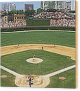 Usa, Illinois, Chicago, Cubs, Baseball Wood Print