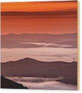 Usa, North Carolina, Brevard Wood Print