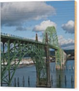 Usa, Oregon, Newport, Us 101 Bridge Wood Print