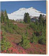 Usa, Washington State, Mount Baker Wood Print
