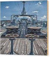 Uss Missouri Anchor Chain Wood Print