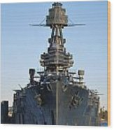 Uss Texas Bow Wood Print