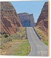 Utah Highway Wood Print