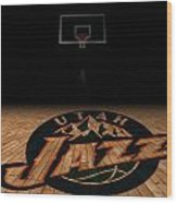 Utah Jazz Wood Print by Joe Hamilton