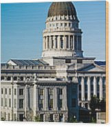 Utah State Capitol Building, Salt Lake Wood Print