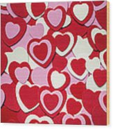 Valentines Day Hearts Wood Print by Elena Elisseeva