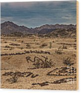 Valley Of The Names Wood Print by Robert Bales