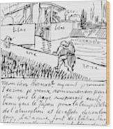 Van Gogh Letter, 1888 Wood Print
