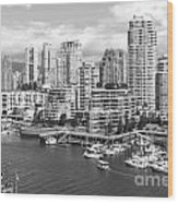 Vancouver Bc Downtown Skyline At False Creek Canada Wood Print