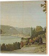 Veduta Del Tevere Wood Print