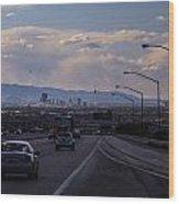 Vegas Cityscape Wood Print