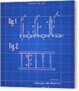 Velcro Patent 1952 - Blue Wood Print