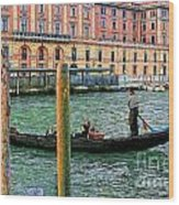 Venice Gondola Wood Print