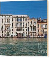 Venice Grand Canal View Italy Wood Print