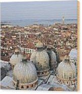 Terracotta Skyline Venice Italy Wood Print